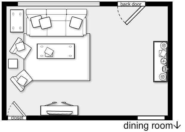 Living Room Furniture Floor Plans Modern House